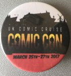UK Comic Cruise 2017 badge